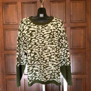 Loralette: zebra print crewneck sweater